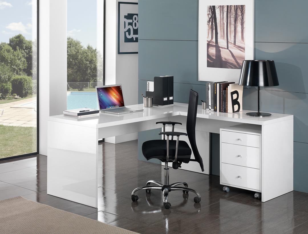 Bureau d 39 angle design un meuble d coratif par excellence for Bureau informatique design